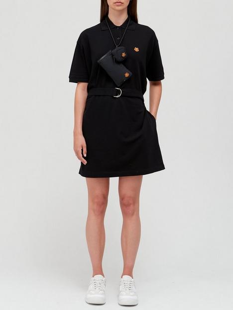 kenzo-tiger-crest-polo-dress-black