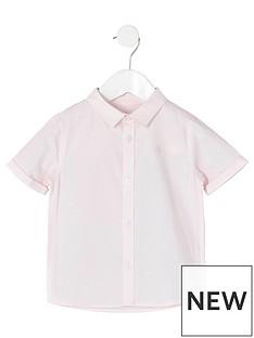 river-island-mini-mini-boys-short-sleeve-twill-shirt-pink
