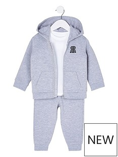 river-island-mini-boys-3-piece-tracksuit-and-t-shirt-set--nbspgrey