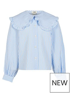 river-island-girls-oversized-collar-stripe-shirt--nbspblue