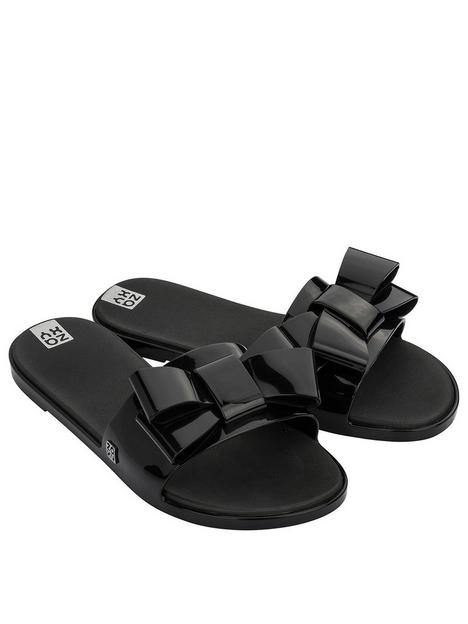 zaxy-sky-slide-bow-flat-sandal--nbspblack
