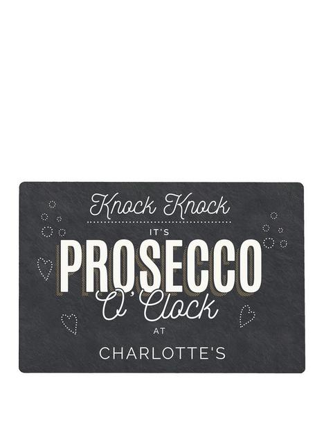 the-personalised-memento-company-personalised-prosecco-oclock-metal-sign