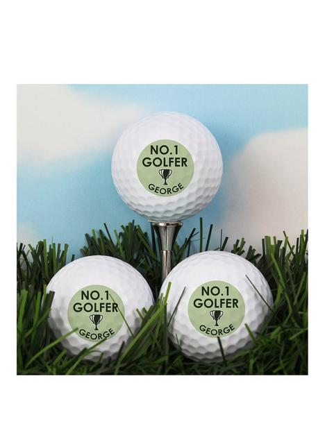 the-personalised-memento-company-personalised-no1-golfer-set-of-golf-balls