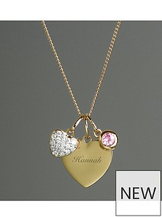 personalised-gold-plated-heart-necklace-with-charms