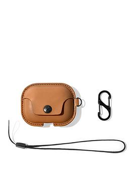 twelve-south-airsnap-pro-leather-protective-casecover-with-loss-prevention-clip-and-optional-carry-strap-for-airpods-pro-cognac