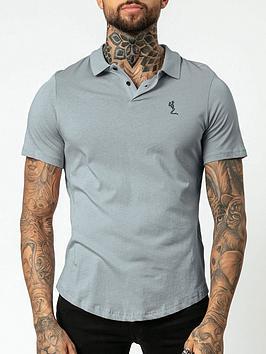 Religion Core Classic Jersey Polo Shirt - Slate Grey, Slate Grey, Size S, Men