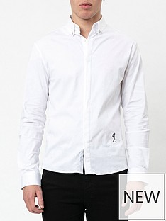 religion-skull-slim-fit-stretch-shirt-whitenbsp