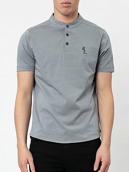 Religion Orson Baseball Collar Polo Shirt - Slate Grey