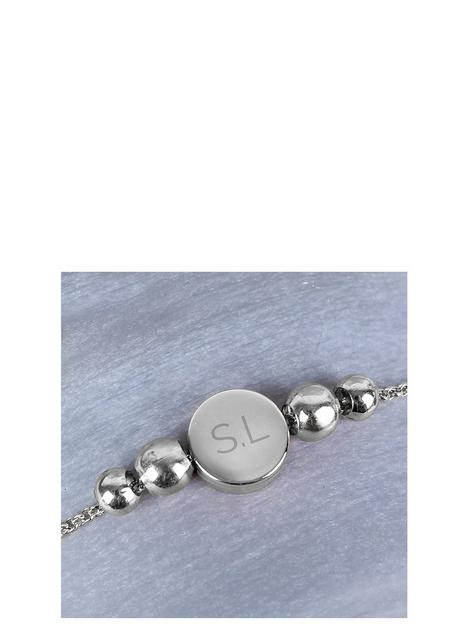 the-love-silver-collection-personalised-disc-bracelet