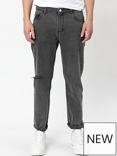 religion-kick-straight-fit-ripped-jeans-blacknbsp
