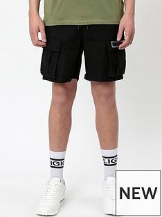 religion-combat-cargo-shorts-black