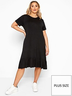 yours-yoursnbsplimited-frill-hem-dress-black