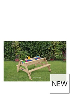 hedstromnbspsand-water-and-ball-play-table-and-bench