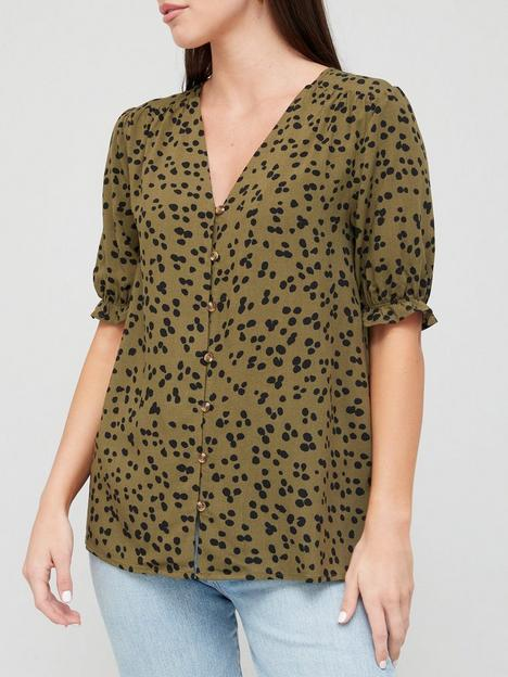 v-by-very-button-through-printed-blouse-green-print