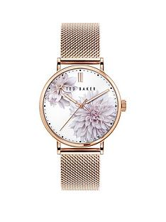 ted-baker-ted-baker-silver-sunray-flower-print-dial-rose-gold-stainless-steel-mesh-strap-ladies-watch