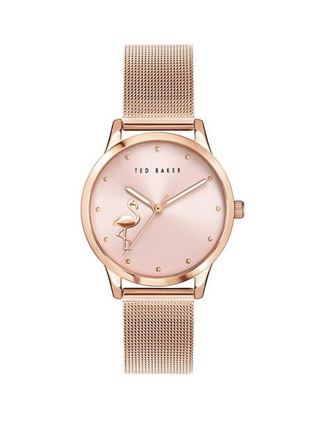 ted-baker-ted-baker-pink-flamingo-dial-rose-gold-stainless-steel-mesh-strap-ladies-watch