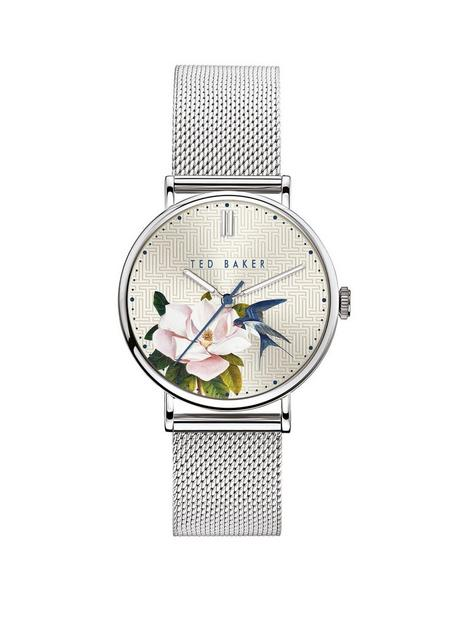 ted-baker-ted-baker-silver-flower-print-dial-stainless-steel-mesh-strap-ladies-watch
