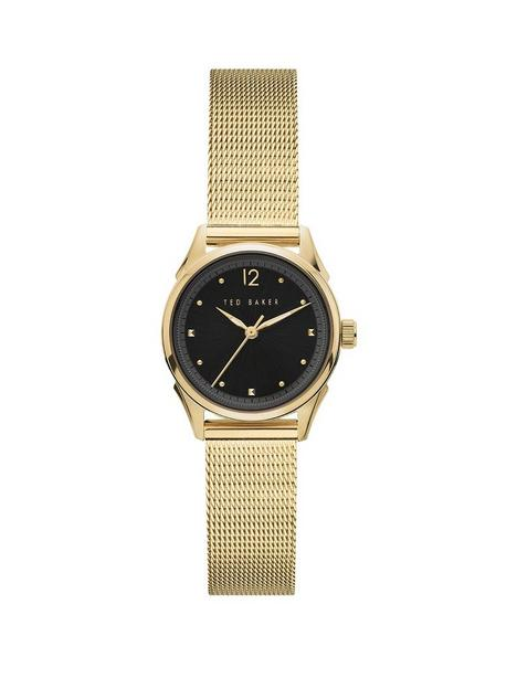 ted-baker-ted-baker-black-sunray-dial-rose-gold-stainless-steel-mesh-strap-ladies-watch