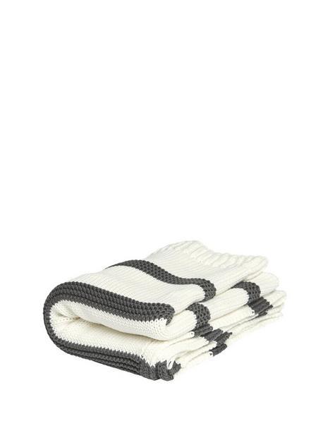 mamas-papas-knitted-blanket-monochrome-stripe