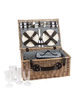 Summerhouse By Navigate Three Rivers 4 Person Wicker Basket Set