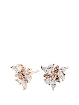 simply-silver-sterling-silver-925-14ct-rose-gold-cubic-zirconia-mismatch-flower-studs