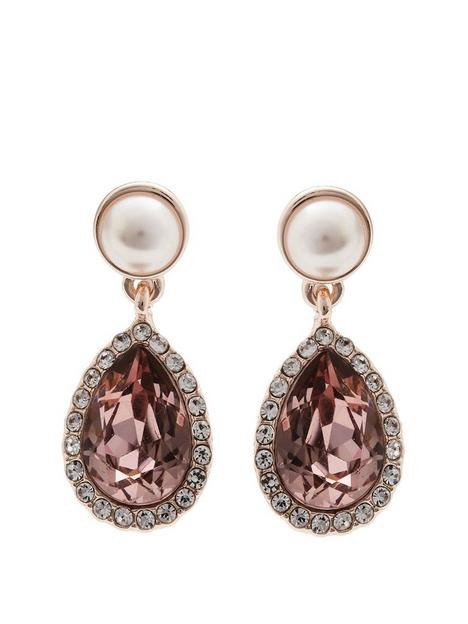mood-rose-gold-plated-pink-and-pearl-crystal-drop-earring