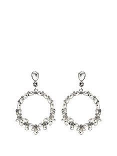 mood-silver-plated-crystal-forward-facing-pear-shape-droplet-earring