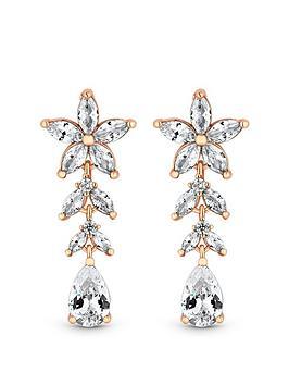 jon-richard-rose-gold-plate-cubic-zirconia-floral-earring