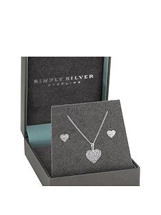 simply-silver-simply-silver-sterling-silver-925-cubic-zirconia-puff-heart-set