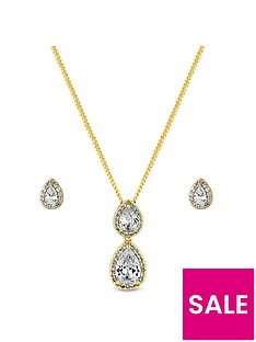 jon-richard-gold-plate-cubic-zirconia-double-pear-pendant-and