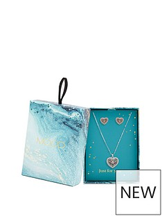 mood-two-tone-plated-filagree-heart-necklace-and-earring-set