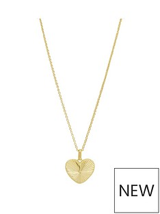 simply-silver-simply-silver-sterling-silver-925-12ct-yellow-gold-diamond-cut-heart-pendant
