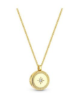simply-silver-simply-silver-sterling-silver-925-12ct-yellow-gold-cubic-zirconia-locket-pendant