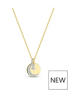 simply-silver-simply-silver-sterling-silver-925-12ct-yellow-gold-celestial-disc-pendant