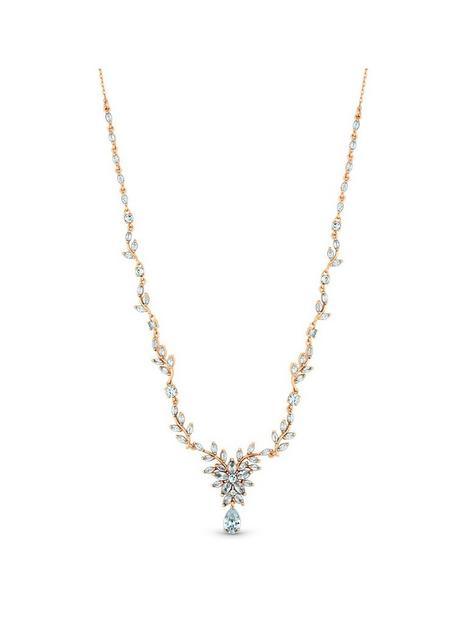 jon-richard-rose-gold-plated-cubic-zirconia-floral-necklace