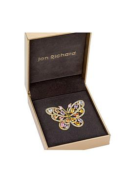 jon-richard-gold-plate-multi-coloured-cubic-zirconia-butterfly