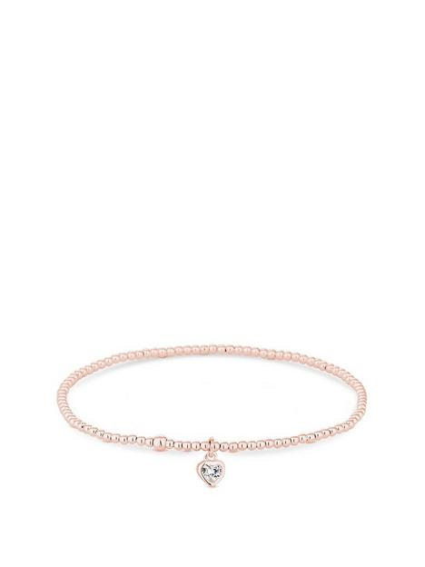 simply-silver-sterling-silver-925-14ct-rose-gold-heart-charm-stretch-bracelet