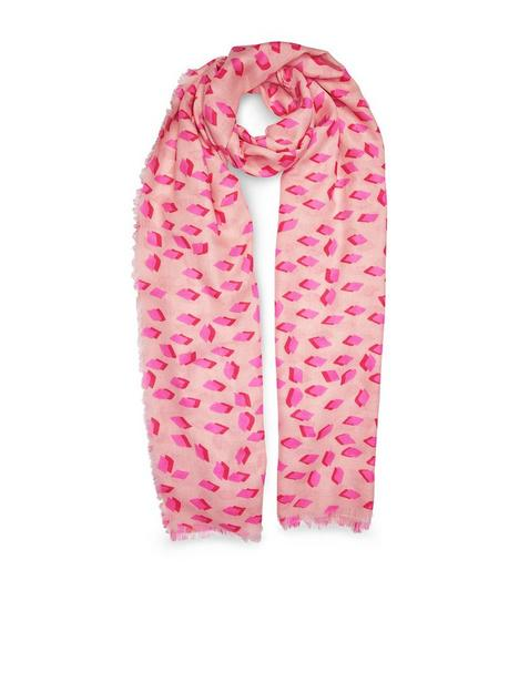 katie-loxton-sentiment-scarf-diamond-print-pink