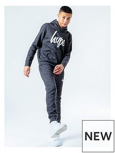 hype-boys-logo-overhead-hoodie-andnbspjoggers-set-charcoal-marl