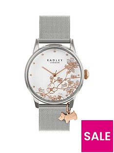 radley-radley-floral-dial-rose-dog-charm-silver-stainless-steel-watch