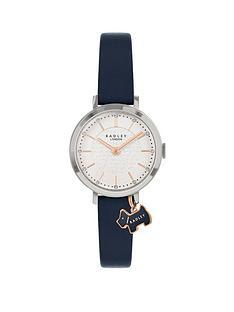 radley-radley-white-dial-navy-dog-charm-navy-strap-watch