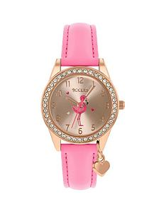 tikkers-tikkers-flamingo-dial-flamingo-charm-strap-watch