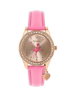 tikkers-tikkers-flamingo-dial-flamingo-charm-strap-watch