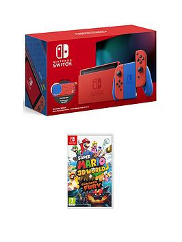 nintendo-switch-mario-red-and-blue-edition-with-super-mario-3d-world-bowsers-fury