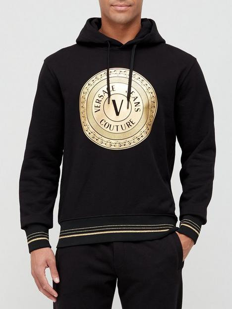 versace-jeans-couture-coin-logo-overhead-hoodie-black