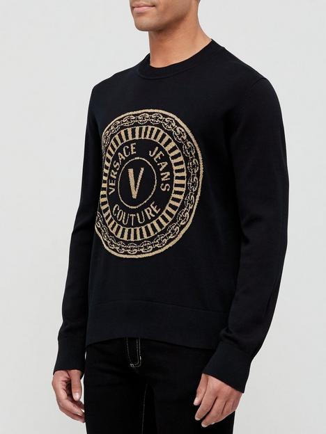 versace-jeans-couture-lurex-logo-sweatshirt-black