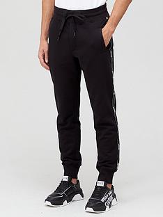 versace-jeans-couture-tape-logo-joggers-black