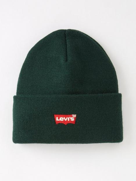 levis-batwing-embroidered-slouchy-beanie-green
