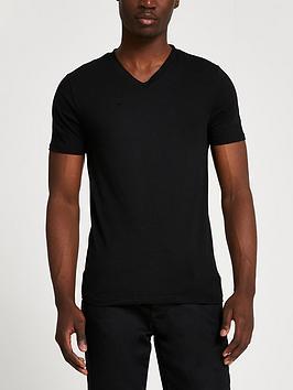 river-island-essential-short-sleeve-muscle-t-shirt-black