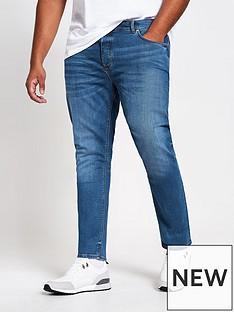 river-island-big-tall-medium-blue-skinny-jeans